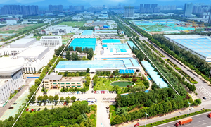 Aerial photography of Zhangqiu Park